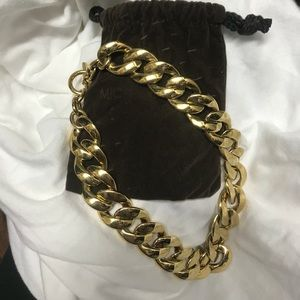 Michael kors chunky chain link necklace